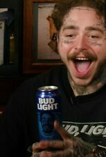 Post Malone Bud Light Beer Can Sealed Top Texas Special Edition Bottom Opened