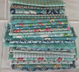 "Lot 21 Pcs. Vtg FEEDSACK  Quilt Sewing Doll Clothes Craft 8""x 12"" All Different"