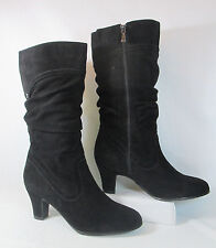 Blondo VALESKA Suede Leather Slouch Mid-Calf Waterproof Fashion Boots Black Sz8M