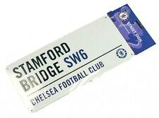 Chelsea FC STAMFORD BRIDGE (Blanco) ANUNCIO DE METAL de calle (BB)