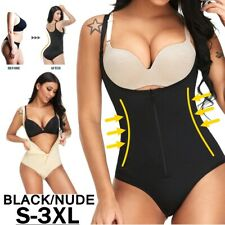 Mujeres Full Body Shaper Control Firme Abdomen Ropa Interior Ajustado Body negro desnudo