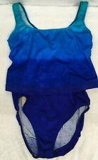 Women Navy Delta Burke Swim Bottoms Tankini  Bikini  Size 20W Blue