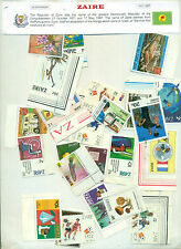 Zaire 25 Different Large Mint - STAMP PACKET