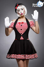 Pantomimenkostüm Sexy Mime Clown Kostüm Harlekin Pierrot