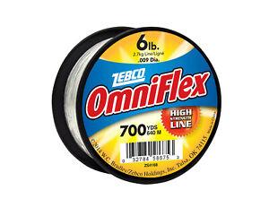 NEW Zebco OmniFlex Clear Monofilament Fishing Line 4,6,8,10,12,15,20,25,50 lb