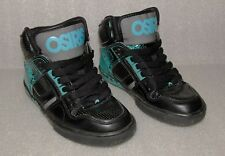 OSIRIS NYC 83 VLC Black / Sea Blue Fashion High Top Skate Shoes Men's Size 2