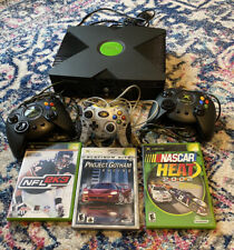 New listing original xbox console with 3 games & 3 Controllers
