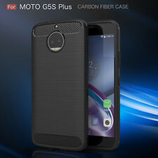 US TPU back Case For Motorola Moto G5S Plus XT1806 Carbon Fiber Texture Slim NEW