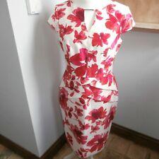 Roman dress Size14 Pink White floral party cruise evening pls read description A