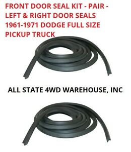 Front Door Weather-strip Seal Kit Pair for Dodge Full Size Pickup Truck