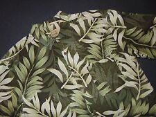 JOS. A. BANK Button Front Shirt ~ Large ~ 100% Silk ~ Hawaiian Style