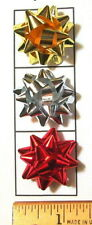 "25-50-100 MINI 1.25"" Birthday Holiday Gift Christmas Jewelers Star Bows~Adhesive"