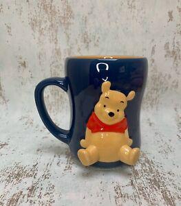 Disney Store - Winnie the Pooh Sitting 3D Dark Blue Mug VGC