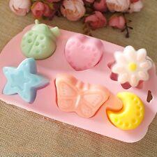 6 Lattices Multi Shape Silicone Cake Jelly Pudding Chocolate Mold DIY Tools