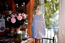 salopette barboteuse baby dior 6 mois petits carreaux bleu ciel blanc PORT GRATU