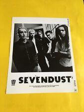Sevendust Press Photo 8x10, John Connolly, Lajon Witherspoon, TVT Records.