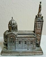 Notre Dame de la Garde Vintage Souvenir Metal Building (Marseille, France)
