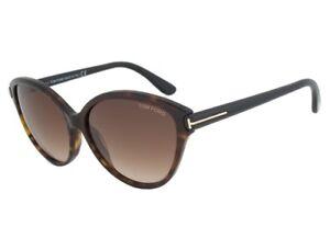 Tom Ford PRISCILA Sunglasses Havana Frame Brown Gradient FT0342 56F 60-15 140