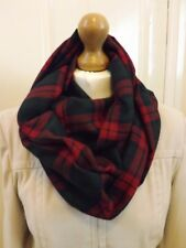 Soft Warm traditionnel Lindsay Tartan Infinity Écharpe Plaid Mother's Day Rouge Vert