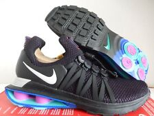 MENS NIKE SHOX GRAVITY TURBO NZ GRAND PURPLE-VAST GREY-BLACK SZ 6 [AR1999-500]