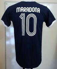 ARGENTINA MARADONA NUMBER 10 S/S RETRO STYLE T-SHIRT SIZE MEN'S SMALL BRAND NEW