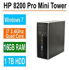 HP 8200 Pro Desktop Computer,16GB RAM,1TB, Intel i7 Quad Core 3.4GHz,Win 7