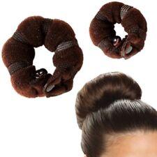2 Pack Small Hot Buns Hair Elegant Magic Style Bun Maker Brown