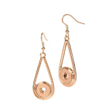 PETITE Ginger Snap Rose Gold Raindrop Earrings Buy 4, Get 5th $5.95 Snap Free