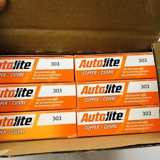 LOT OF 48 AUTOLITE 303 COPPER SPARK PLUGS