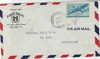 united states 1945 G.Hirsch Sons Inc. New York air mail stamps cover ref 21119