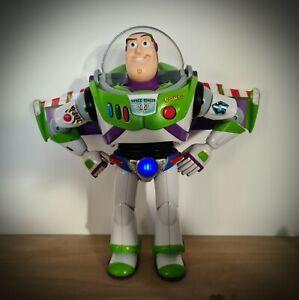 Buzz Lightyear Toy Story Action Figure Chrome Anti-gravity Belt Thinkway Disney