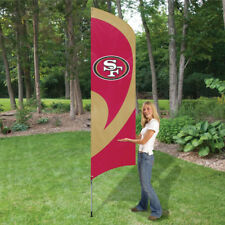 SAN FRANCISCO 49ERS 8.5 FOOT TALL TEAM FLAG 11.5' POLE SIGN BANNER TAILGATE