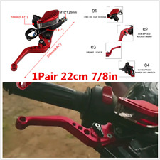 1 Pair Hydraulic Brake Clutch Levers Aluminum For 7/8 in Motorcycle Handlebar