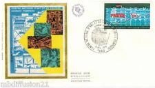 1977**ENVELOPPE SOIE**FDC 1°JOUR**CENTRE GEORGES POMPIDOU-ART**TIMBRE Y/T 1922