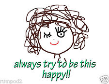 Smiley Face Poster/Funny Poster/Little Girl Smiling/Poster/Print/Inspirational