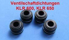 4 x joint vanne tige KLR 650, klr650, kl650, tengai, vanne tige joints