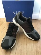 Armani Jeans Retro Lightweight Antracite Sneakers Training Shoes Uk 8 Eu 42 New