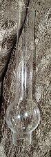 """Kerosene Oil NOS Clear Lamp Chimney 1 3/8"""" X 9 3/8""""  Bulge Glass"""