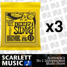 3x Ernie Ball Beefy Slinky 11-54 Electric Guitar Strings *SET OF 3 PACKS*