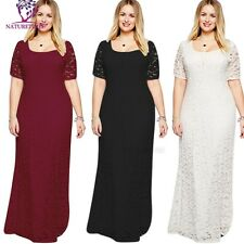 Long Plus Size Lace Evening Formal Party Ball Gown Prom Bridesmaid Dress XL- 9XL
