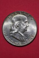 HIGH GRADE 1952 D Ben Franklin Half Dollar Exact Coin Flat Rate Shipping OCE 026