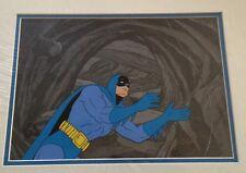 1977 Batman Production Cel & Production Background Signed Bob Kane w/ CoA