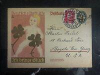 1928 Leipzig Germany Postal Stationary Cover To Bogota NJ USA German Emergency H