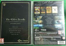 THE ELDER SCROLLS ANTHOLOGY PC DVD NEW SEALED ENGLISH STEAM MAPS SKYRIM