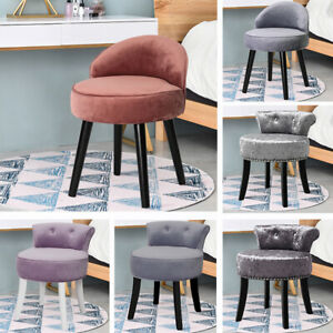 Modern Velvet/Linen/Leather Button Accent Chair Soft Cafe Seats Dining Furniture