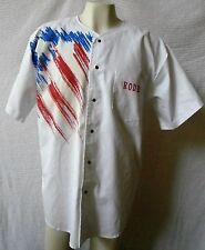 Men's  XL Rodeo Shirt, Roping, Snap, Allyn Pettit, Rutland, VT, White T5