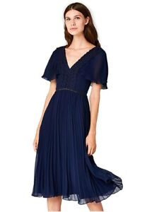 TRUTH & FABLE Women's Midi Chiffon Dress Size XS RRP£99 (3074)
