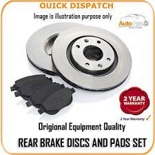 1440 REAR BRAKE DISCS AND PADS FOR AUDI TT 2.0T FSI TTS (270BHP) 5/2008-