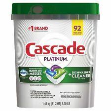 Cascade Platinum ActionPacs Dishwasher Detergent, Fresh Scent (92 ct.)