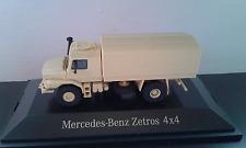 Mercedes-Benz Zetros 4x4 Pritsche mit Plane sandbeige Renner 1/87